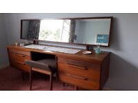 Teak Dressing Table with mirror and stool