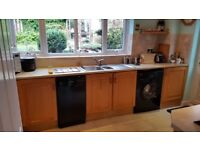 Kitchen Units with Fridge and Integrated Cooker Hood