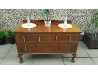 Antique Art Deco mahogany chest of drawers