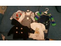 Bundle of 0-3 months baby boys clothes