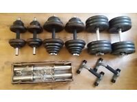 6 dumbbells, 133kg, pack worth 240,-!!