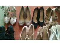 Ladies size 5 8 pairs of shoes
