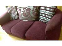 Two seater and 3 seater sofa