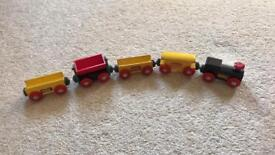 Five Wooden brio trains