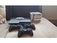Ps3 slimline 120gb, 11 games, 3 controllers