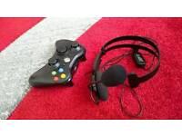 X box xbox 360 joystick remote control headphones set joystick