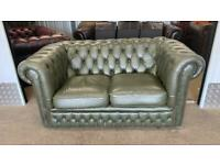 Stunning 2 seater leather chesterfield sofa £325