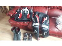 Rst tracktech evo 2. 2 piece leather suit