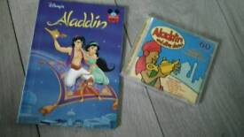 Alladin NEW book & Audio 60 min cd stories ( goldilocks, sleeping beauty etc)