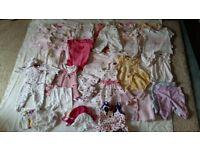Newborn baby girls clothes bundle 0-3m