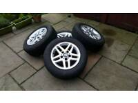 BMW e46 aluminum wheels with tyres R15