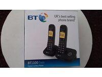 BT 1100 twin pack digital cordless phones new £21