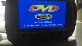2x 9 inch Head Rest DVD players