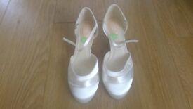 'Pink' Ivory bridal shoes UK 40/7 BRAND NEW