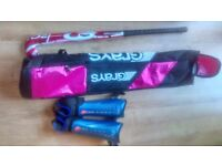Mercian 3 (201) hockey stick, grays stick bag and shin pads