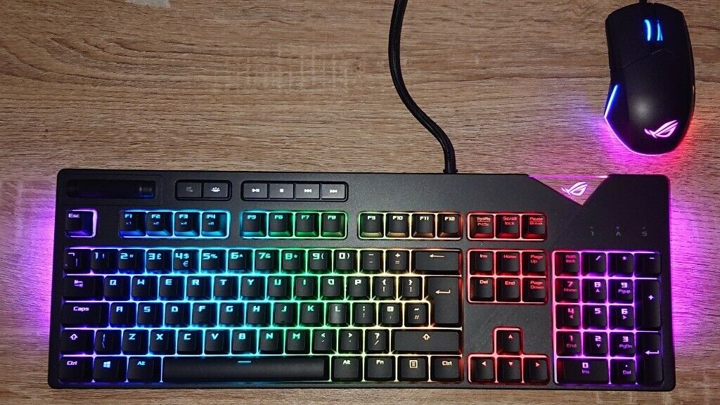 ASUS ROG Strix Flare RGB Gaming Keyboard and ASUS ROG Pugio Optical Gaming  Mouse | in Hatfield, Hertfordshire | Gumtree