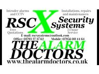 RSCX security systems, the alarm doctors. Specialises in intruder alarms and CCTV