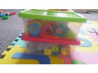 Set of 4, colored storage boxes *Contents not included** 10in (L)X 4in (h)
