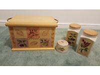 Bread bin, Coffee, Tea & Sugar set