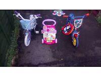 Mike the knight bike and helmet frozen bike vtech walker