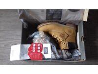 Timberland boots - junior 4.5 6 inch premium wheat nubuc yellow