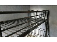 Black metal bunk beds £40