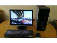 """Dell XPS 430 Quad Core Gaming Desktop Computer PC With Samsung 21"""""""