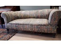 Antique Victorian 3-seater drop-end Chesterfield sofa