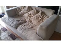 Free sofa. Collection only. Beige sofa. Used condition. Free to a good home. just need to collect