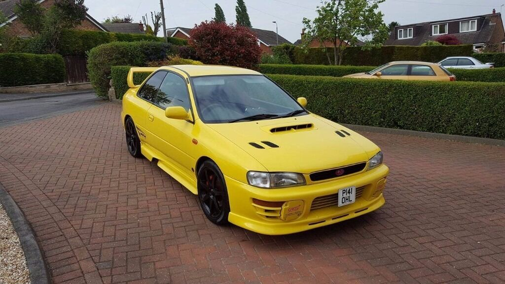 1997 subaru impreza wrx sti type r yellow only 42 000 miles 2 doors in beeston. Black Bedroom Furniture Sets. Home Design Ideas