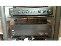 Adcom pre and power amp amplifier