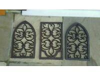 Cast Iron Garden wall art windows