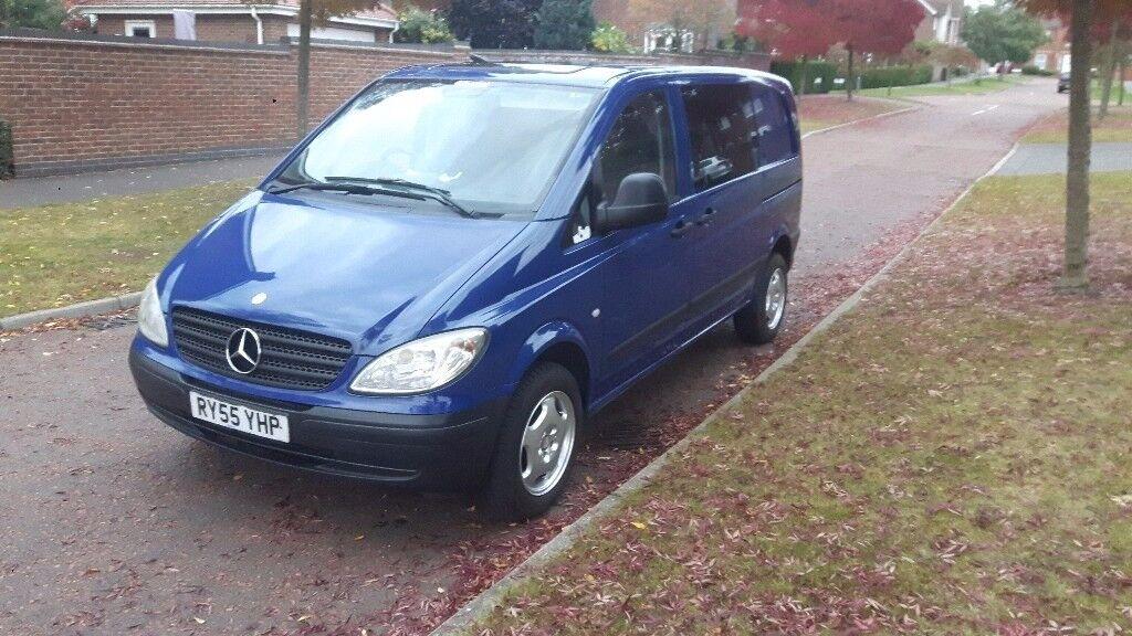 Mercedes Vito 2005 Dualliner 2.1 Diesel 111 CDI Compact, 6 Seats. Very Flexible Van