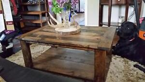 Recycled pallete wood furniture, coffee table