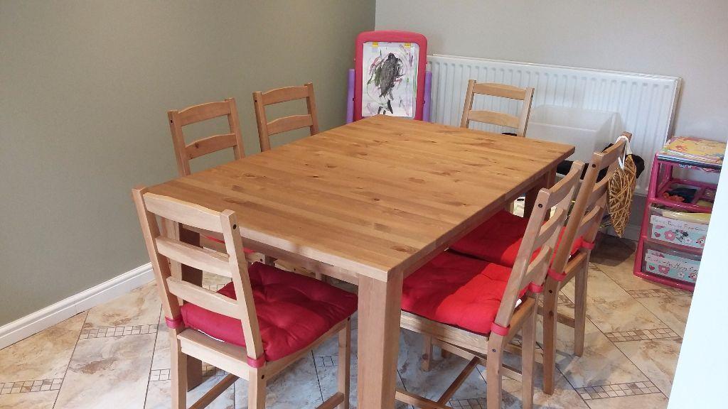 Ikea stornas extending table 4 chairs in bridgend gumtree for Ikea stornas table