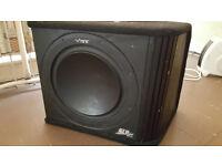 vibe 12 slr 1200 watts built in amp subwoofer