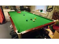 Slate Bed Snooker Table