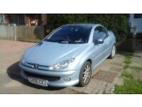 Peugeot 206cc Moonstone metallic blue, leather seats, 12 months MOT
