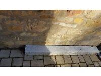 concrete over the door lintel