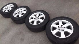 "16"" original VW T5 transporter alloys 5x120 caravelle multivan T6 LOAD RATED tyres 215/65/16c"
