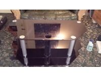 Beautiful black shiny tv &,or smokin table