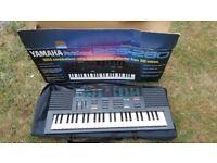 A Yamaha Keyboard in case.