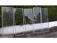 Aluminium secondary glazing. Cold frame or allotment cloche.