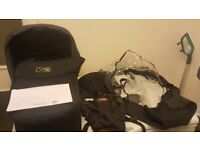 Mountain buggy duet carrycot plus with storm cover