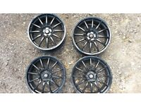 "Team Dynamics Pro Race 1.2 Gloss Black x5 Alloys 5x 112 18"" Audi VW VAG SKODA SEAT"