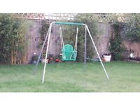 Children's single swing set