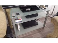 3 Tier Glass TV Stand for Living Room Furniture