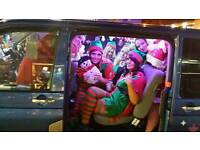 8 seater christmas karaoke party taxi bus
