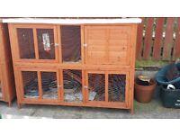 Large rabbit hutch good condition