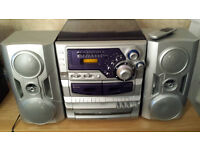Goodman's All-In-0ne Turntable 3CD Changer Tape Deck Speakers Remote